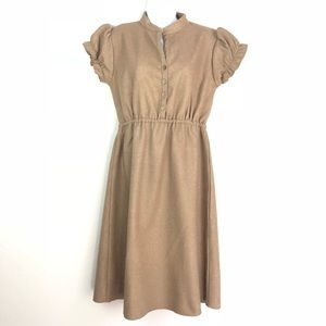 Shabby Apple L Wool Lined Retro Shirt Waist Dress
